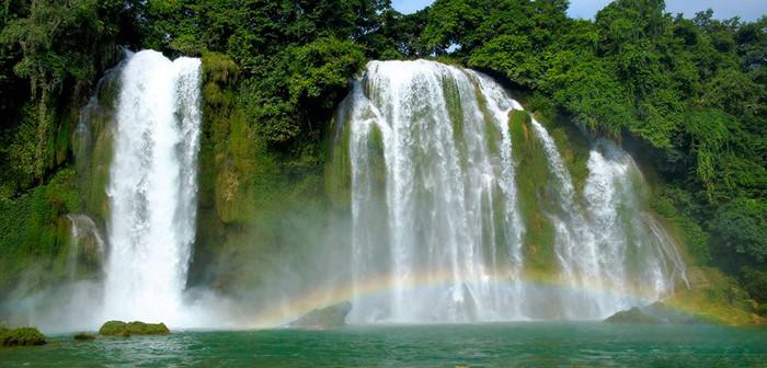 Panorama of Ban Gioc Waterfall