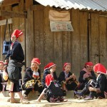 Red Dzao People in Ta Phin Village