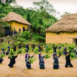 Traditional dance in Bat Xat, Sapa