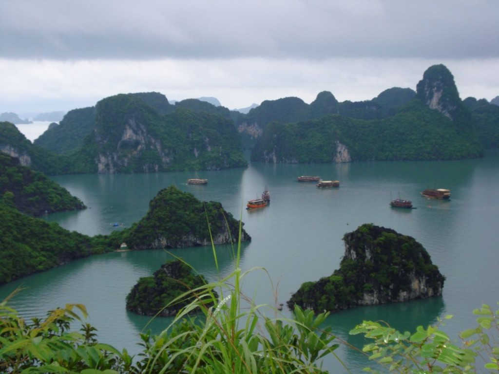 Halong Bay - Natural Wonder of the World in Vietnam.