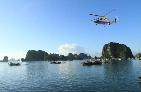 Halong Bay Tour by Helicopter