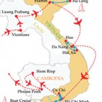 vietnam laos cambodia map