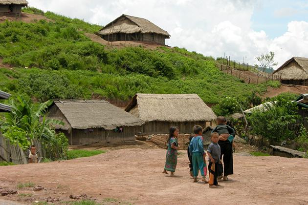 Ban Khia Luang village laos