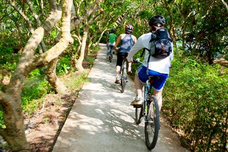 Biking through Can Tho