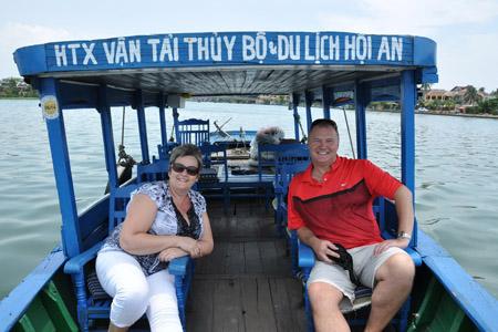 Boat Cruise on Thu Bon River