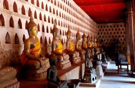 Buddha statues in Wat Sisaket, Laos