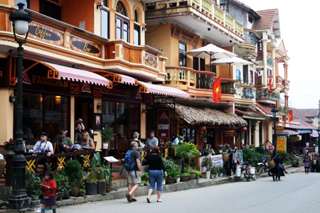 Colorful Sapa Town in Lao Cai Province