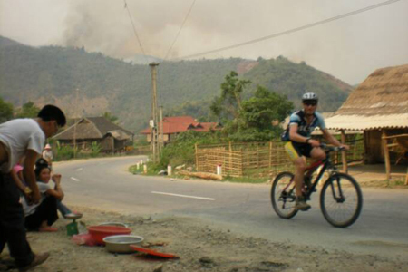 Cycling through villages in Buon Me Thuot