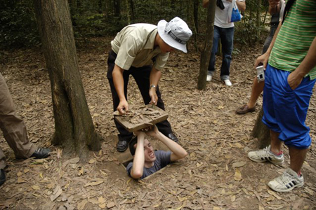 Entrance and Exit at Cu Chi Tunnels