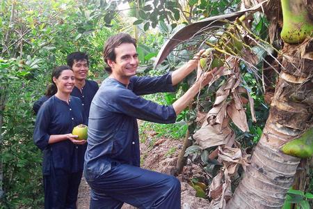 Fruit garden in An Binh Island