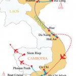 The Memorable Vietnam & Cambodia - 15 Days Map