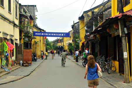 The old streets in Hoi An Ancient Town