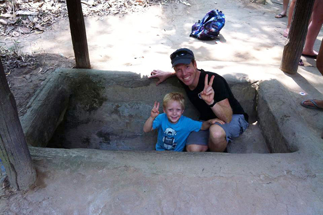 explore cu chi tunnels with your children