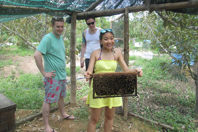 honey farm in mekong delta south vietnam family tour