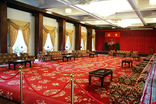 meeting hall of Reunification Palace in Ho Chi Minh City
