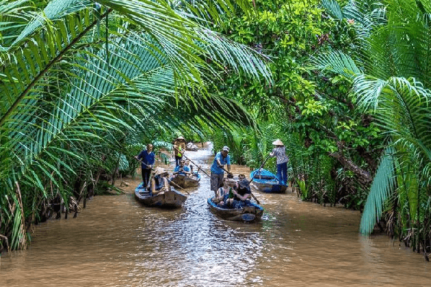mekong delta boat trip 2-week vietnam and cambodia tour