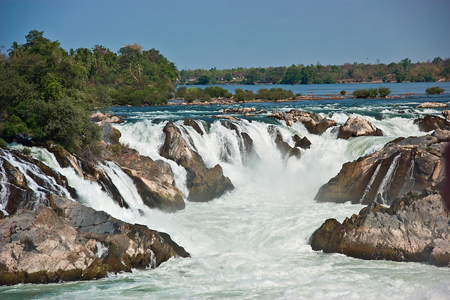 Waterfalls of Khone Phapeng - the largest waterfall in South East Asia