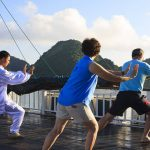 Tai Chi Lesson in Halong Bay Tour