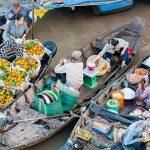 cai be floating market mekong delta vietnam