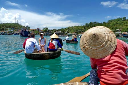 Basket boat trip in Nha Trang Bay