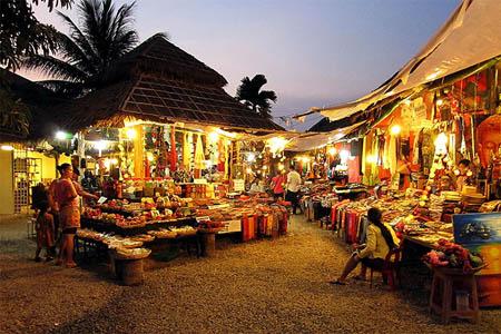 Angkor Night Market in Siem Reap, Cambodia