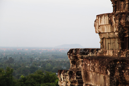 Going on walking, silent listening and rewarded by a breathtaking view and a sunrise over Phnom Bok – the hill in the east of Angkor