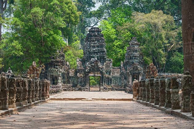 gate to Preah Khan siem reap cambodia
