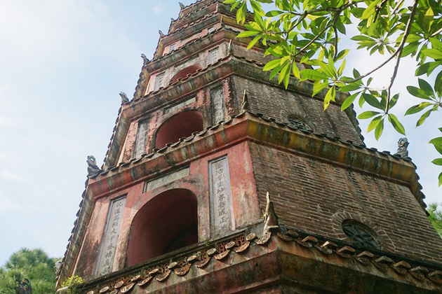 tower inside thien mu pagoda