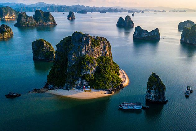 halong bay view from above