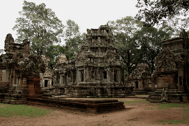 Chao Say Tevoda Temple Angkor Complex in Cambodia