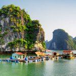 Floating village on Cat Ba Island Vietnam Family Tour