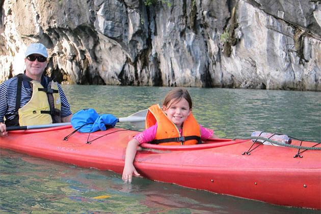 Kayaking family tour in vietnam 15 days