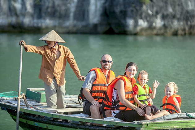 halong bay family tour