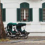 two retro cyclo in Hanoi Metropole Hotel