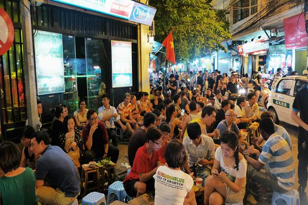 hanoi street food hanoi christmas