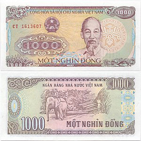 1000 VND vietnam money