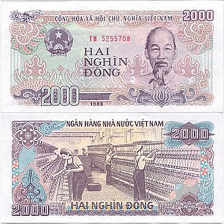 2000 Vnd Vietnam Money