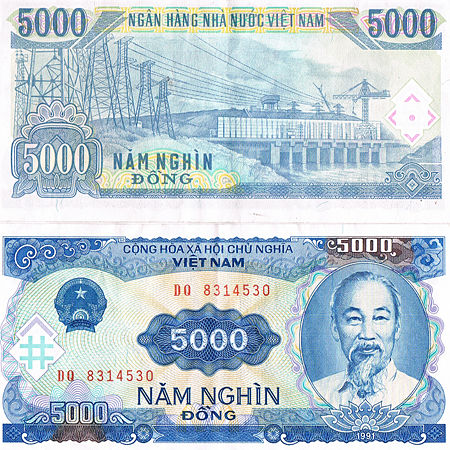 5000 Vnd Vietnam Money