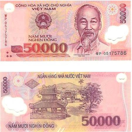 50000 VND vietnam money