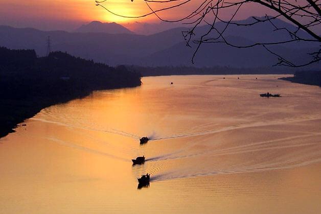 Sunset at Perfume Pagoda