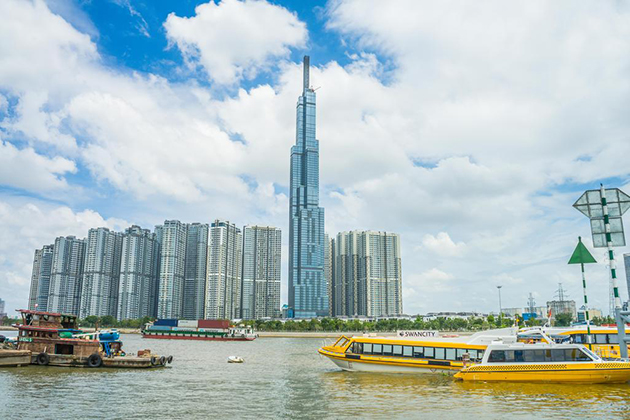 landmark 81 vietnam view from river