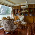 Library on Cruise in Halong Bay Vietnam Luxury Tour
