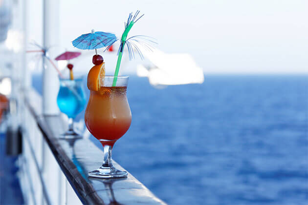Drinks on boat in Vietnam Cambodia Tour