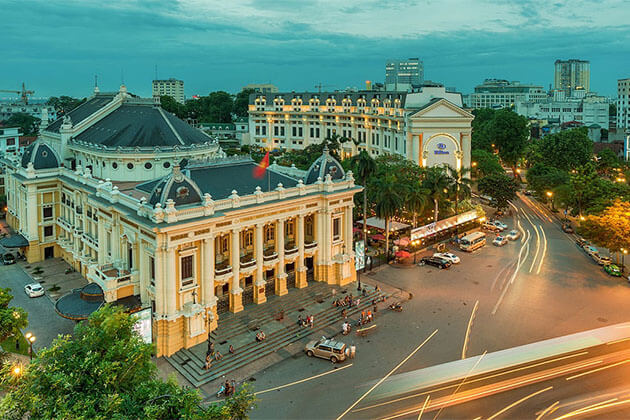 Hanoi Opera House Vietnam Luxury Tour