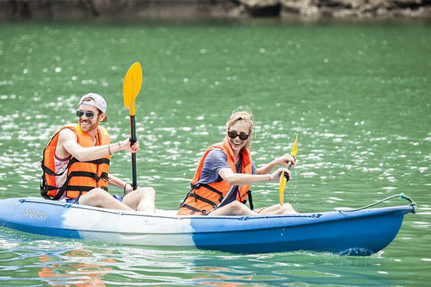 Kayaking in Halong Bay Vietnam Holiday