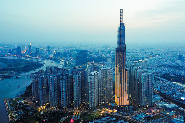 Vincom Landmark 81 Building in the Saigon